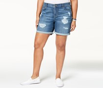Style & Co Plus Size Cuffed Denim Shorts, Spice