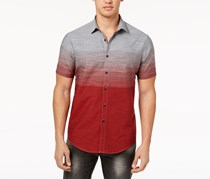 Inc International Concepts Men's Ombre Shirt, Licorice Red
