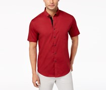 Inc International Concepts Men's Stretch Pocket Shirt, Red