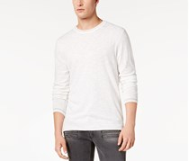 International Concepts Men's Contrast-Trim Knit Sweater, White Pure