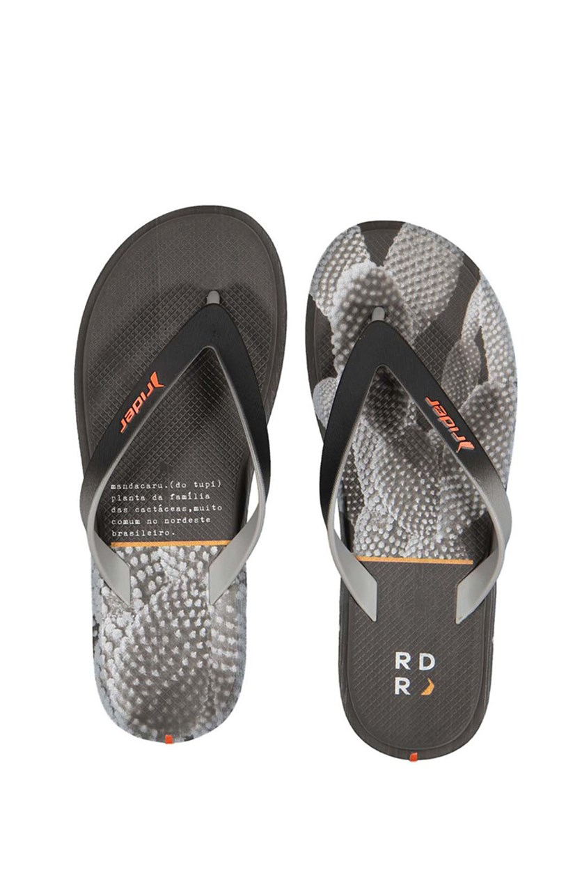 Men's  R1 Energy AD Thong Sandals, Black/Grey