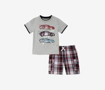 Kids Headquarters Baby Boys 2-Pcs. Graphic-Print Set, Gray Combo