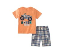 Kids Headquarters 2-Pieces Graphic-Print Set, Orange
