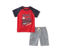 Kids Headquarters Baby Boys 2-Pcs. Graphic Set, Red Combo