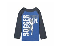 Little Boys Pull-over Graphic Tee, Blue Combo