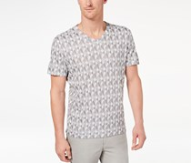 Alfani Men's Exploded Geo-Print T-Shirt, White/Grey