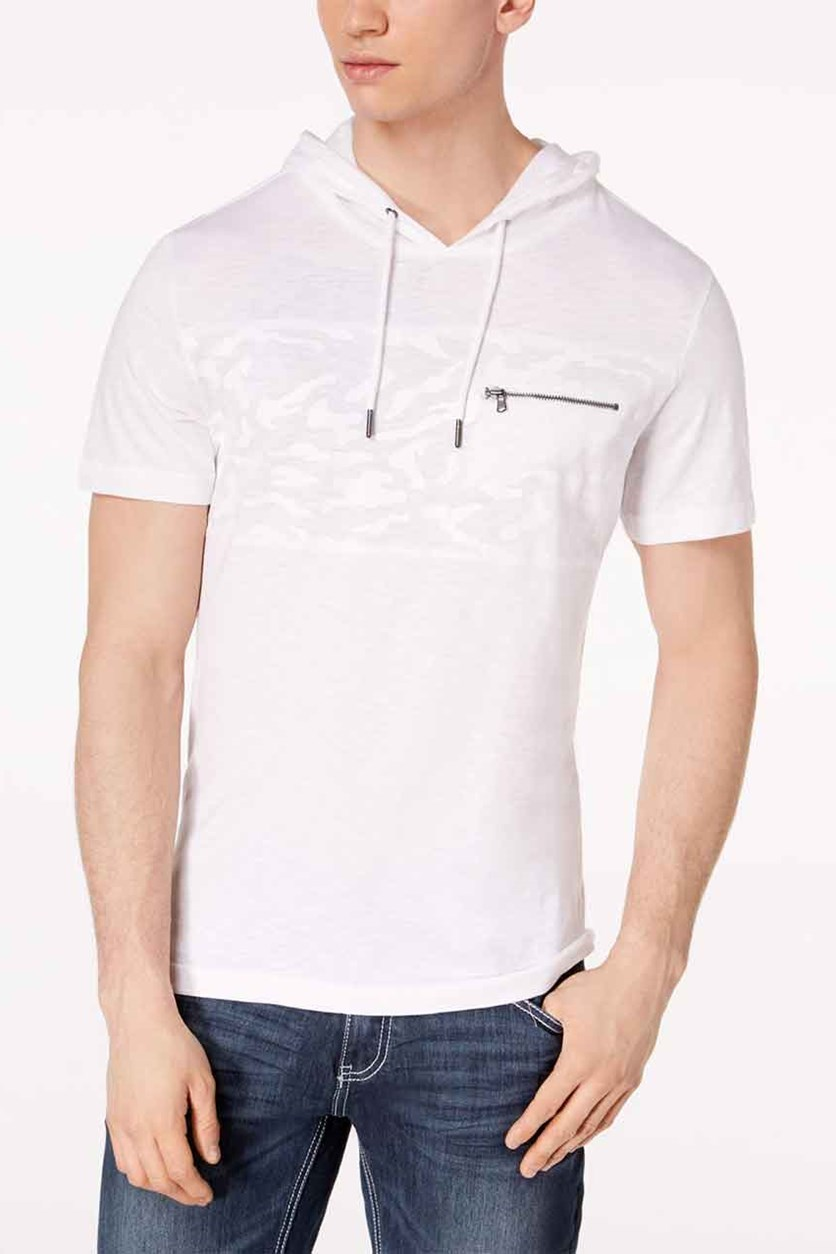 International Concepts Men's Hooded T-Shirt, White Pure