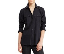 Ralph Lauren Women's Broadcloth Shirt, Polo Black