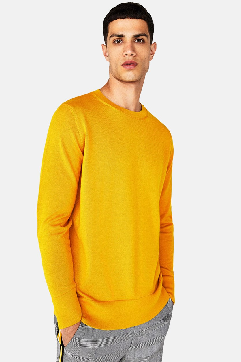 Men's Knit Sweater, Gold