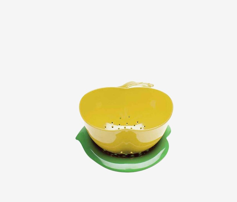 Zak Design Apple Colander & Saucer 2-pc Set, Yellow/Green