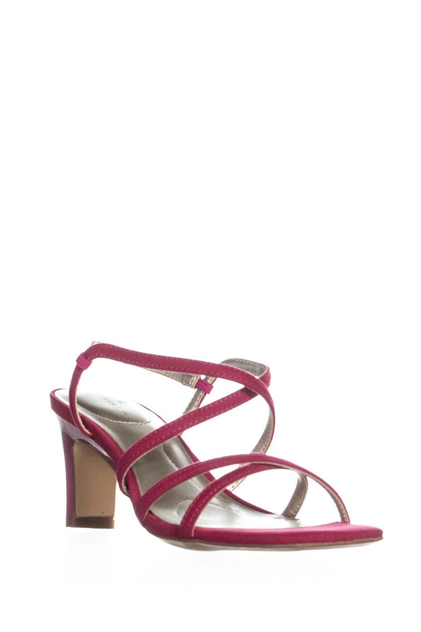 Obexx Strappy Sandals, Dark Pink