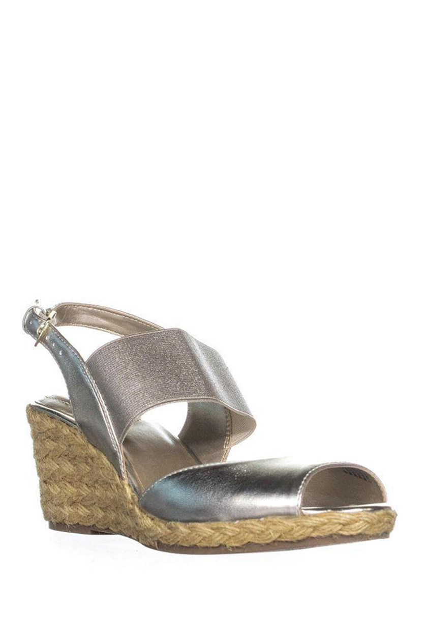 Women's Metallic Himeka Espadrilles Wedge Sandals, Light Gold