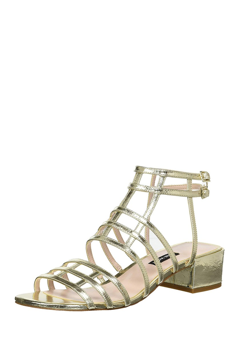 Women's Xerxes Metallic Heeled Sandal, Gold