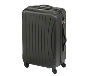 Princess Traveler Chicago ABS Deluxe Suitcase. Size M, Black