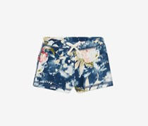 Polo Ralph Lauren Floral-Print Shorts, Blue/Cream Combo