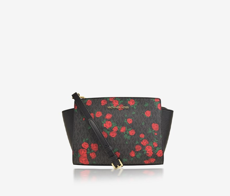 Women's Meduim Messenger Bags, Black/Red