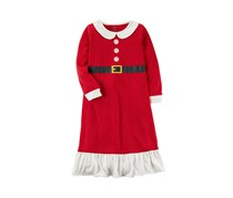 Carter's Girls' Mrs. Claus Christmas Sleep Gown, Red