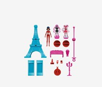 Miraculous Eiffel Tower Action Set, Red/Turquoise/Pin