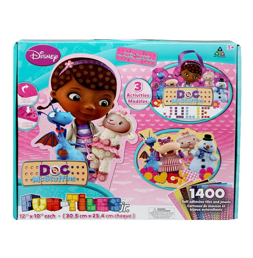 41360 Doc McStuffins Fun-Tiles Junior Activity Kit, Pink Combo