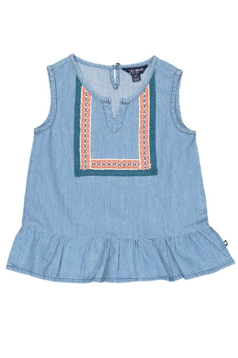 Toddlers Girls Sleeveless Lillian Top, Blue
