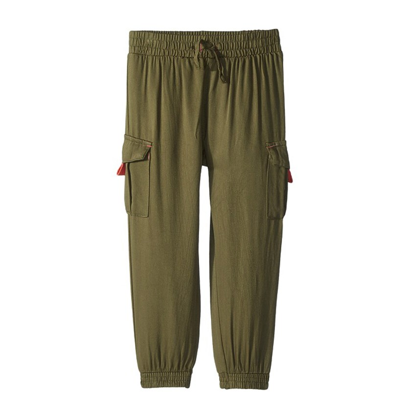 Toddlers Casual Pants, Olive