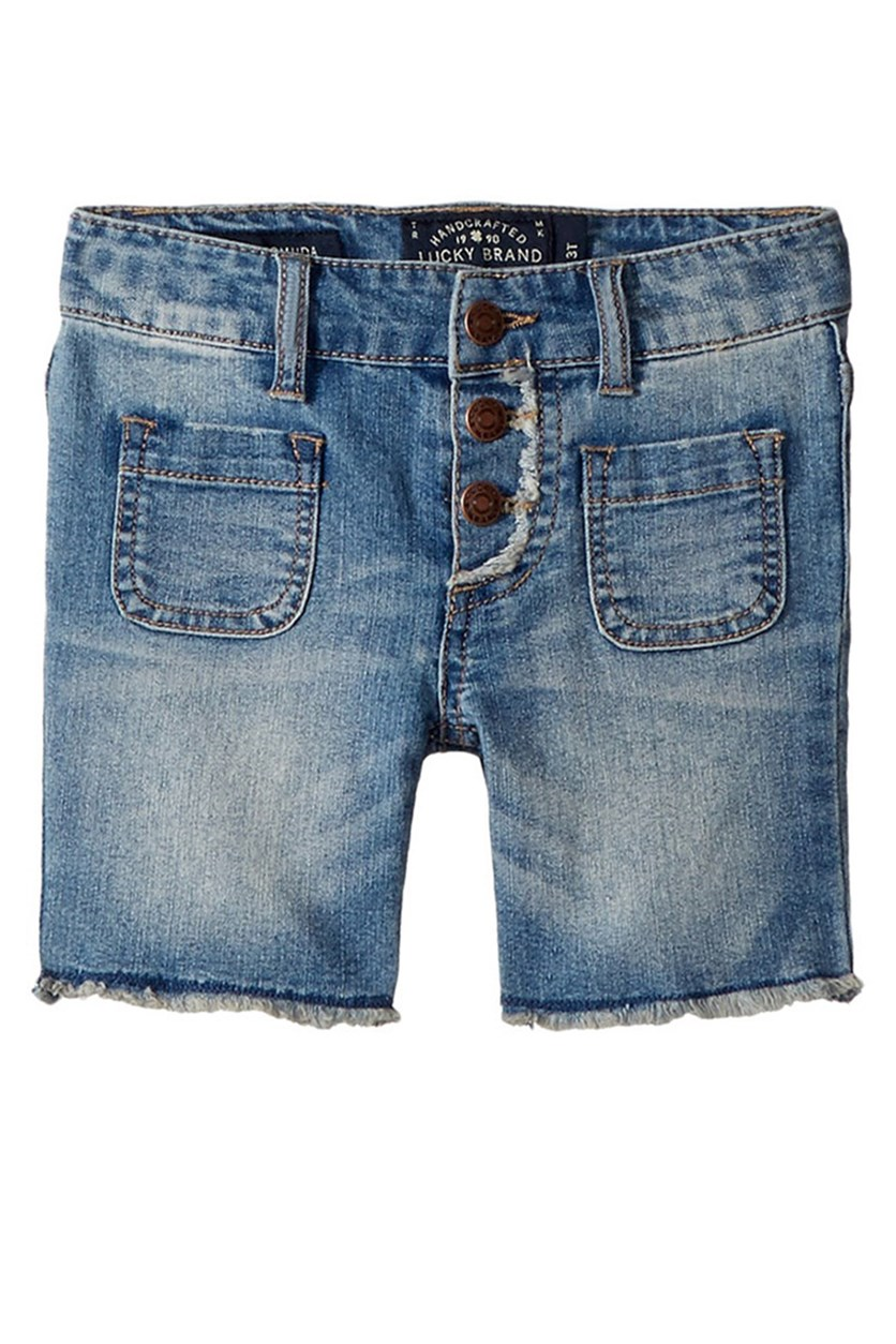 Toddlers Vera Long Short, Wash Blue