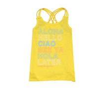 Lucky Brand Little Girls' Sleeveless Fashion Tank Top, Yellow
