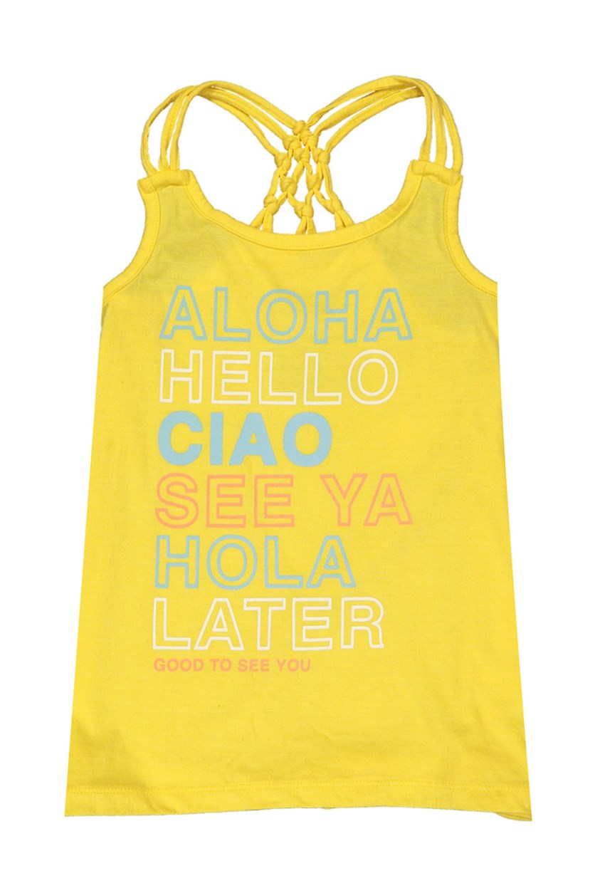 Little Girls' Sleeveless Fashion Tank Top, Yellow
