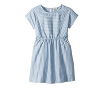 Lucky Brand Kids Girl's Short Sleeve Stripe Erika Dress, Blue/White
