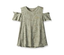 Lucky Brand Big Girls' Short Sleeve Fashion Top, Sea Grass