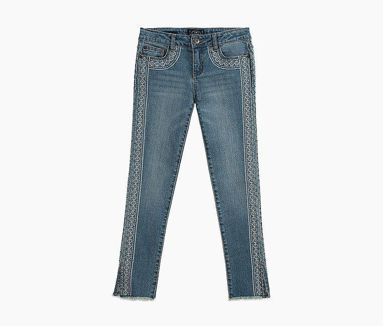 Kids Girls Fashion Denim Jeans, Andy Ryder Wash