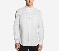 Dkny Men's Woven Gingham Shirt, Lunar Rock