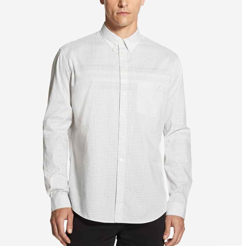 Men's Woven Gingham Shirt, Lunar Rock