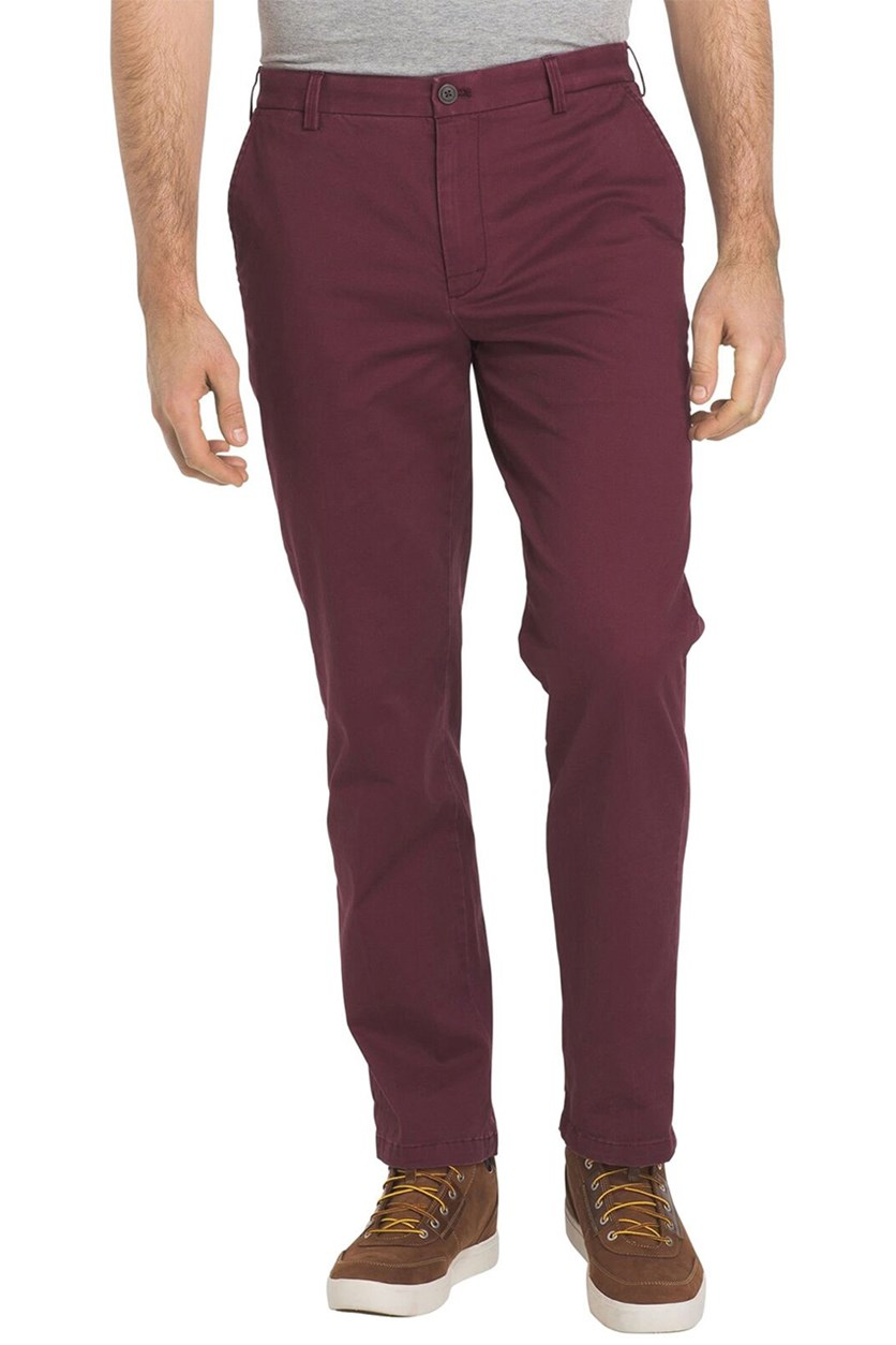 Izod Men's Saltwater Washed Straight-Fit Stretch Chino Pants, Fig