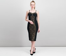 Jane Norman Women's Lace Panel Dress, Black