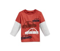 First Impressions Baby Boys Long-Sleeve Graphic T-Shirt, Cinnamon Glaze