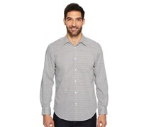 Perry Ellis Men's Long Sleeve Modern Geo Print Shirt, Bungee Cord