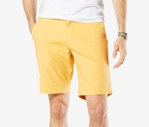 Dockers Mens Slim-Fit Patterned Short, Yellow