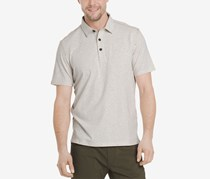 G.H. Bass Co. Mens Desert Mountain Polo, Oyster Grey Heather