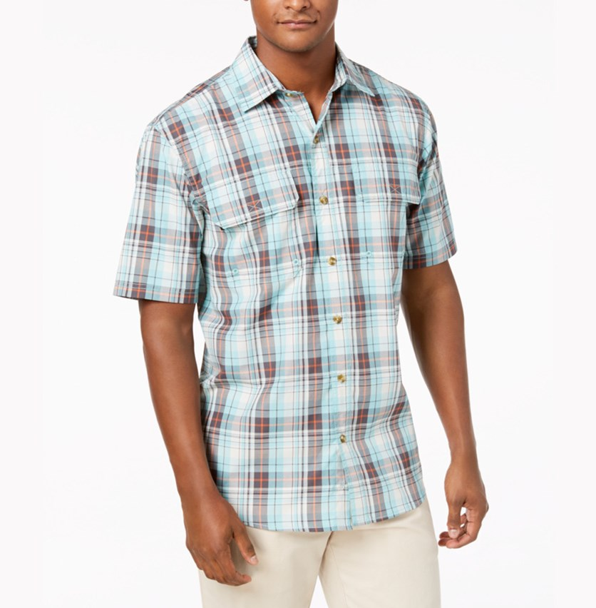 G.H. Bass Co. Men's Explorer Fishing Shirt, Aqua Haze