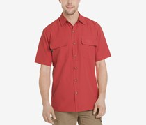 G.h. Bass & Co. Men's Explorer Fishing Shirt, Red Baked Apple