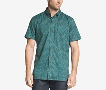 G.H. Bass Co. Mens Salt Cover Printed Shirt, Sea Moss