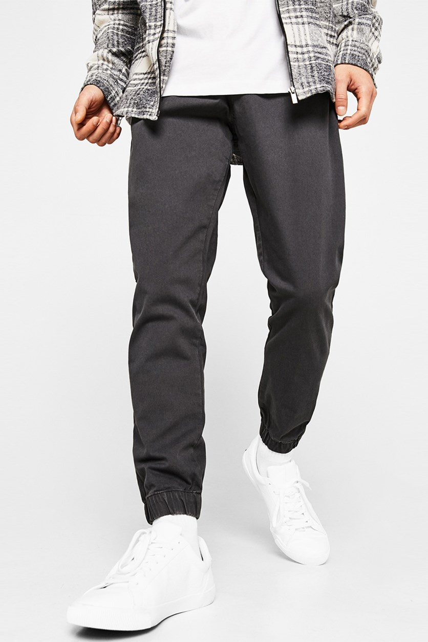 Jogger Trousers With Cord, Charcoal Grey