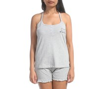 Pillow Talk  Women's Sleeveless Pajama Short, Grey