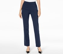 Jm Collection Pull-On Slim-Leg Pants, Navy