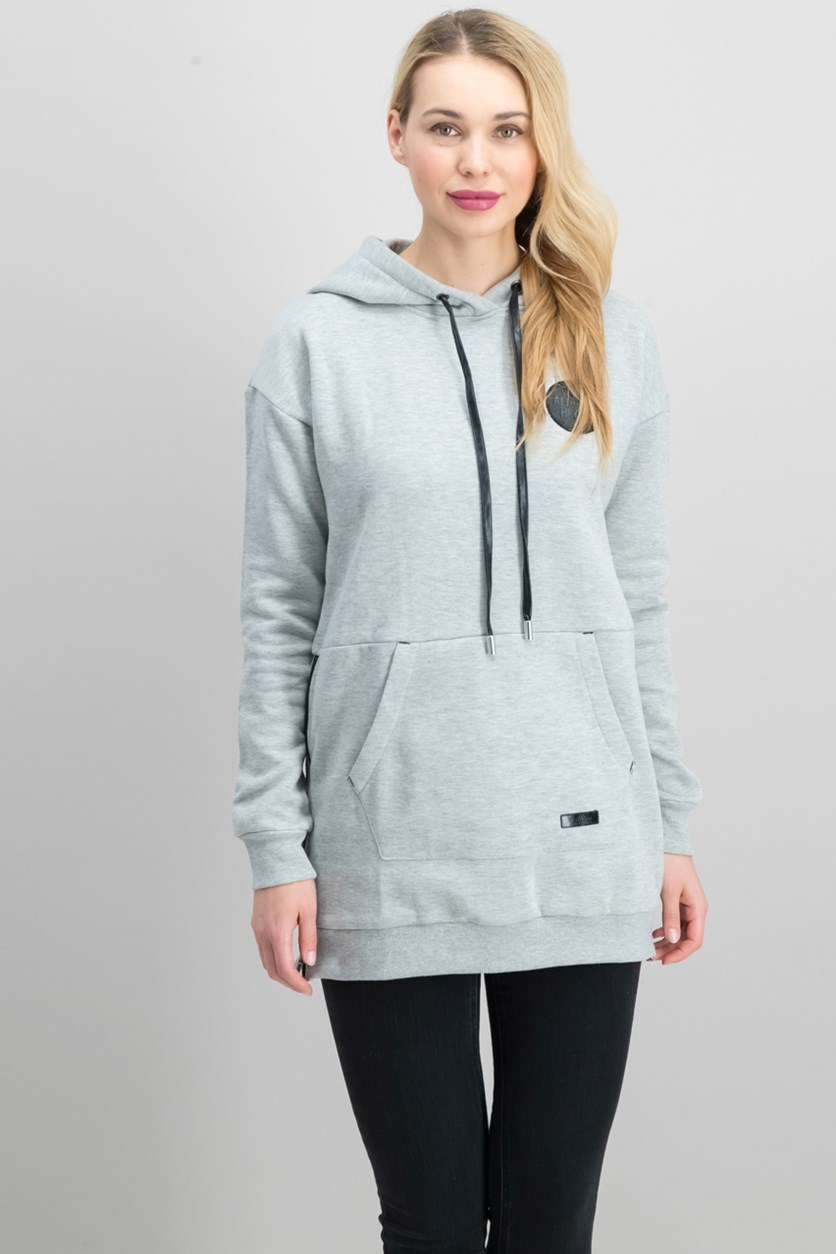 Chillin Women's Jogging Hooded Top, Grey Heather