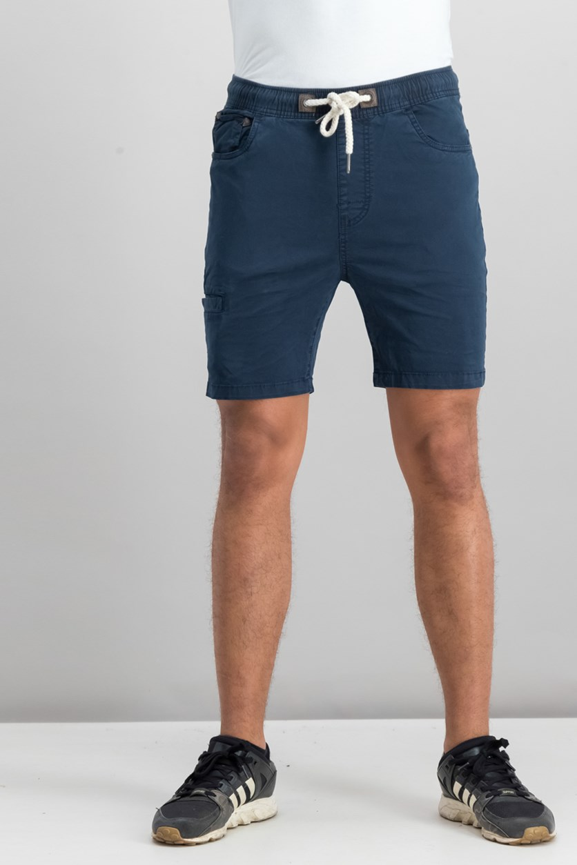 Men's Plain Drawstring Shorts, Navy