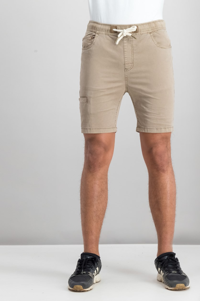 Men's Drawstring Shorts, Taupe