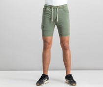 House Men's Drawstring Plain Shorts, Green