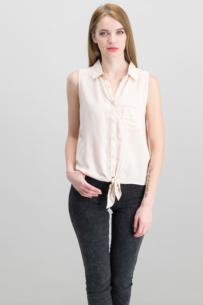 Women's Sleeveless Top, Blush